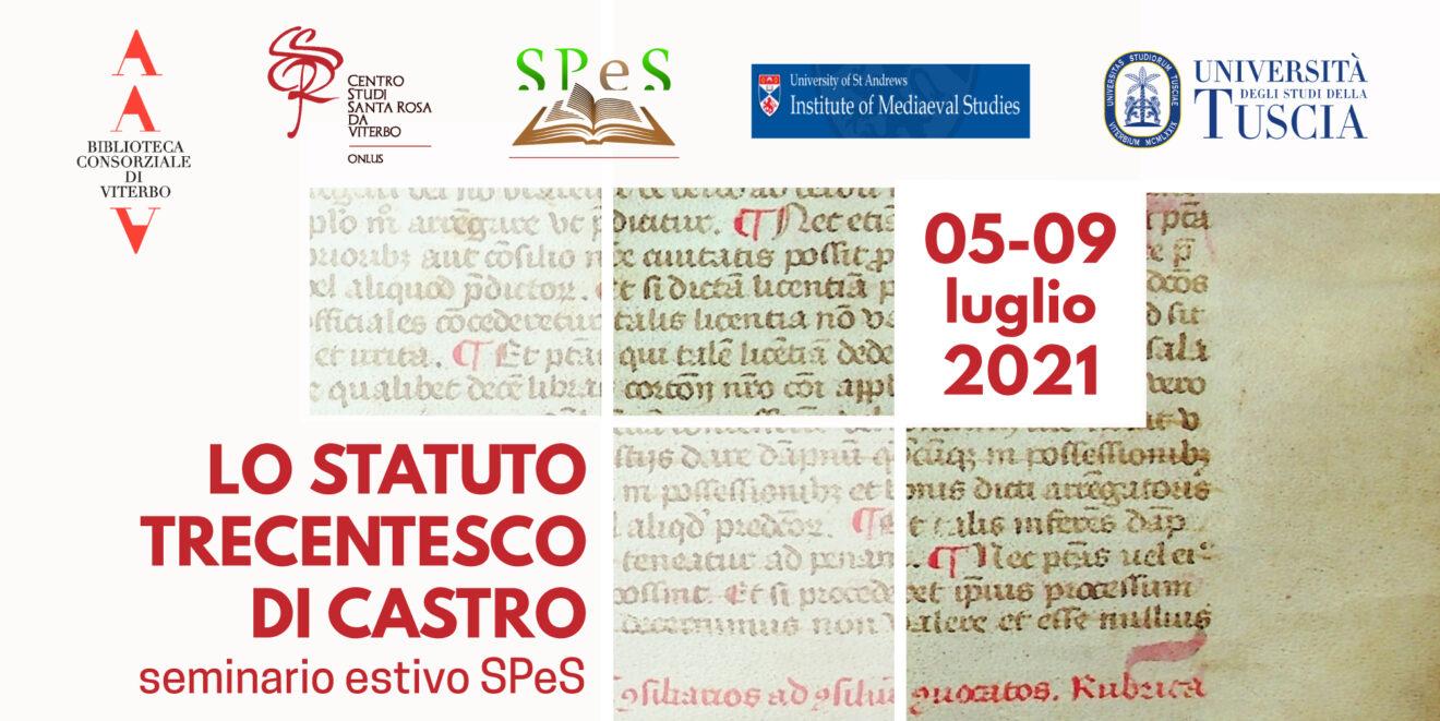 Seminario estivo: edizione statuto di Castro